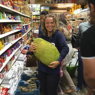 Jackfruit, found at an Asian food store in Belgium